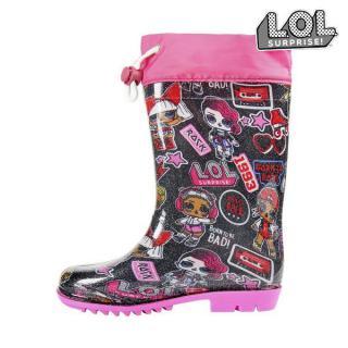 Botas de Agua Infantiles LOL Surprise! Rosa Negro (Talla Calzado 30)