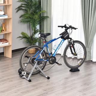 Rodillo Entrenamiento Bicicleta 5 Niveles de Resistencia por Cable Cicloentrenador Acero Bici 54,5 x 47,2 x 39,1cm Color Plata